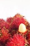 Trägt Rambutan Früchte Lizenzfreie Stockfotos