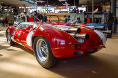 Trägt Rennwagen Maserati Tipo 63 Birdcage, 1959 zur Schau Scuderia Serenissima Lizenzfreie Stockfotografie