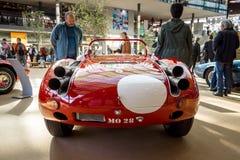 Trägt Rennwagen Maserati Tipo 63 Birdcage, 1959 zur Schau Scuderia Serenissima Stockbild