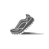 trägt Schuhe der Dynamik zur Schau lizenzfreie abbildung