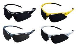 Trägt Sonnenbrille zur Schau Stockfotos