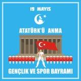 trägt Tag von der Türkei zur Schau lizenzfreie abbildung