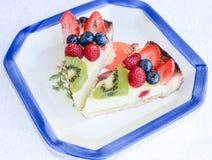 Trägt Torte für italienischen gesunden Kuchen Früchte Lizenzfreies Stockbild