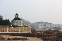 TräGuanhai villa i Qingdao Arkivbilder