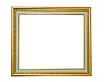 träguld- isolerat foto för ram Arkivfoto