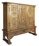 trähandgjord gammal woodcarvi för klassisk skänk royaltyfria foton