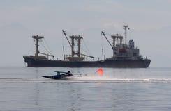 Trähastighetsfartyglopp Royaltyfri Fotografi