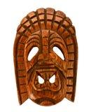 trähawaiansk maskering Arkivbild