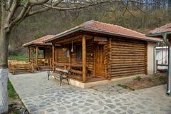 Trähelghus från journaler av trä 02 Fotografering för Bildbyråer