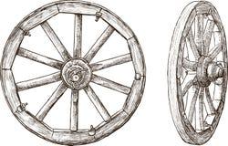 Trähjul Fotografering för Bildbyråer