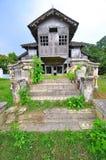 Trähus för traditionell malay Arkivbild