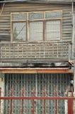 Trähus i bygd av Asien Royaltyfria Foton