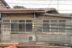 Trähus i bygd av Asien Royaltyfri Bild