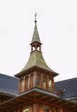 Trähus i Engelberg switzerland Royaltyfria Foton