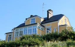 Trähus i Helsingfors Royaltyfria Bilder