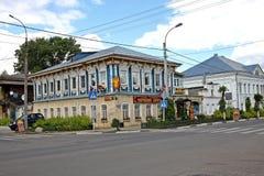 Trähus i Ryssland Royaltyfri Bild