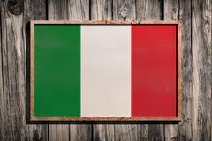 TräItalien flagga Arkivfoto