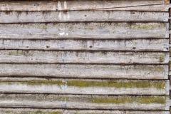 Träjournalväggbakgrund Arkivfoton
