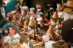 Träjulleksaker Schweiz arkivbild