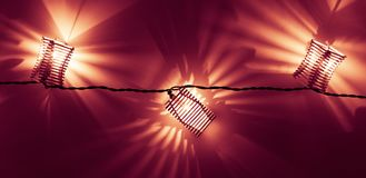 Träjulljus stänger sig upp Royaltyfri Foto