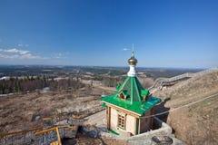 Träkapell. Ryssland. Permanent Royaltyfri Foto