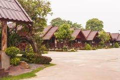 Träkoja, Thailand Arkivfoto