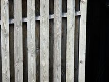 Träkorn för trä för staketdetaljskugga Arkivbild