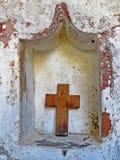 träkristet kors Athos halvö Fotografering för Bildbyråer