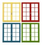 träkulört fönster Arkivbild