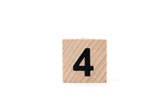 Träkvarter nummer fyra arkivfoton