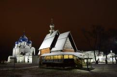 Träkyrka av St Nicholas i Suzdal Royaltyfri Fotografi