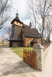 Träkyrka i Tarnowen/Polen Royaltyfria Foton