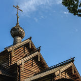 Träkyrka i Vitoslavlitsy Royaltyfri Bild
