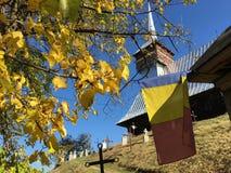 Träkyrkan från Bradet fotografering för bildbyråer