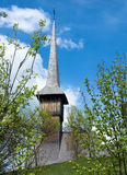 träkyrkliga maramures Arkivfoton