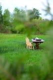 Trälantgårdtabell Royaltyfria Bilder