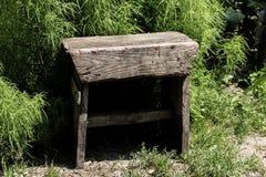 Trälantlig stol Arkivfoto