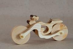 Träleksakmotorcykel Fotografering för Bildbyråer