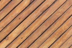 Träljus - brun tabell med diagonala bräden Arkivfoton