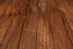 trämörk textur brunt texturträ gammala paneler för bakgrund Retro trätabell lantlig bakgrund Tappning färgad yttersida Royaltyfria Bilder