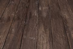 trämörk textur brunt texturträ gammala paneler för bakgrund Retro trätabell lantlig bakgrund Tappning färgad yttersida Arkivfoto
