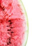 Trämassa av en bruten vattenmelon Royaltyfri Foto