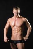 Tränga sig in manlig modell Arkivbilder