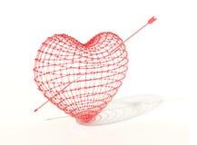 trängd igenom hjärta Arkivbilder