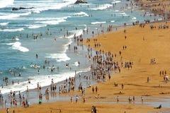 trängd ihop strand Royaltyfri Bild