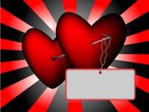 trängde igenom hjärtor Arkivbild
