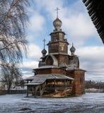 Träomgestaltningkyrka Suzdal Ryssland Royaltyfri Fotografi