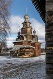 Träomgestaltningkyrka Suzdal Ryssland Fotografering för Bildbyråer
