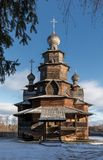 Träomgestaltningkyrka Suzdal Ryssland Arkivfoton