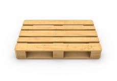 Träpalett som isoleras på vit bakgrund Arkivfoton